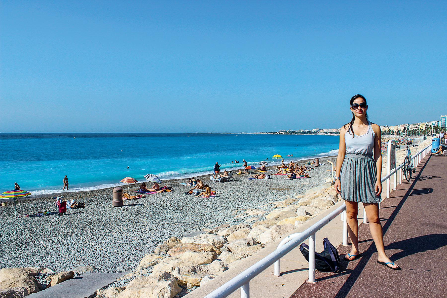 EU FUI: Rosana Dantas em Nice, na França
