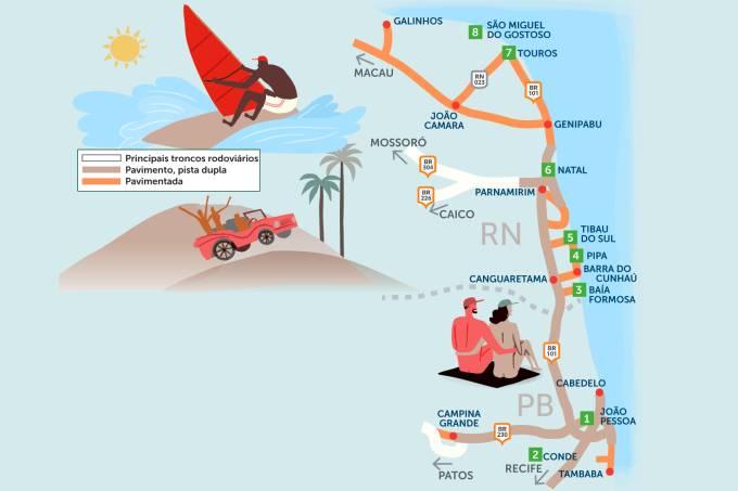 Roteiro rodoviário Linha Verde, Sergipe e Sul do Alagoas