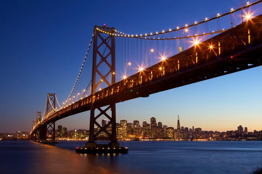Bay Bridge, em San Francisco, nos Estados Unidos