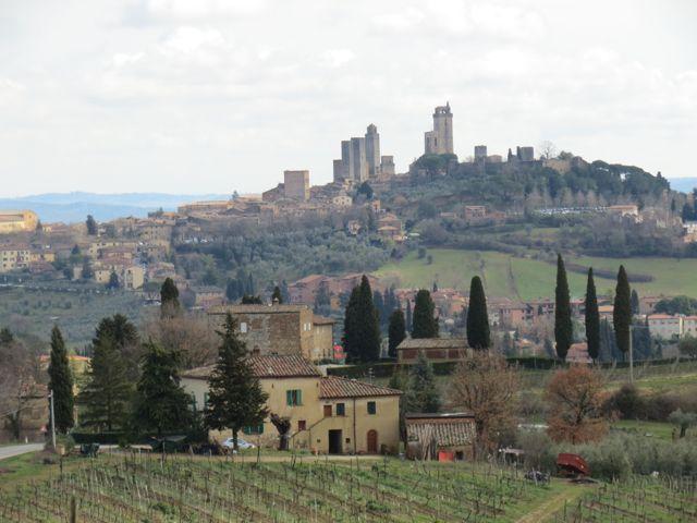San Gimignano vista de longe