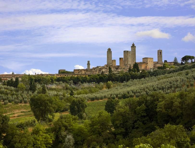 As características torres de San Gimignano já foram mais numerosas, mas continuam sendo o símbolo da cidade