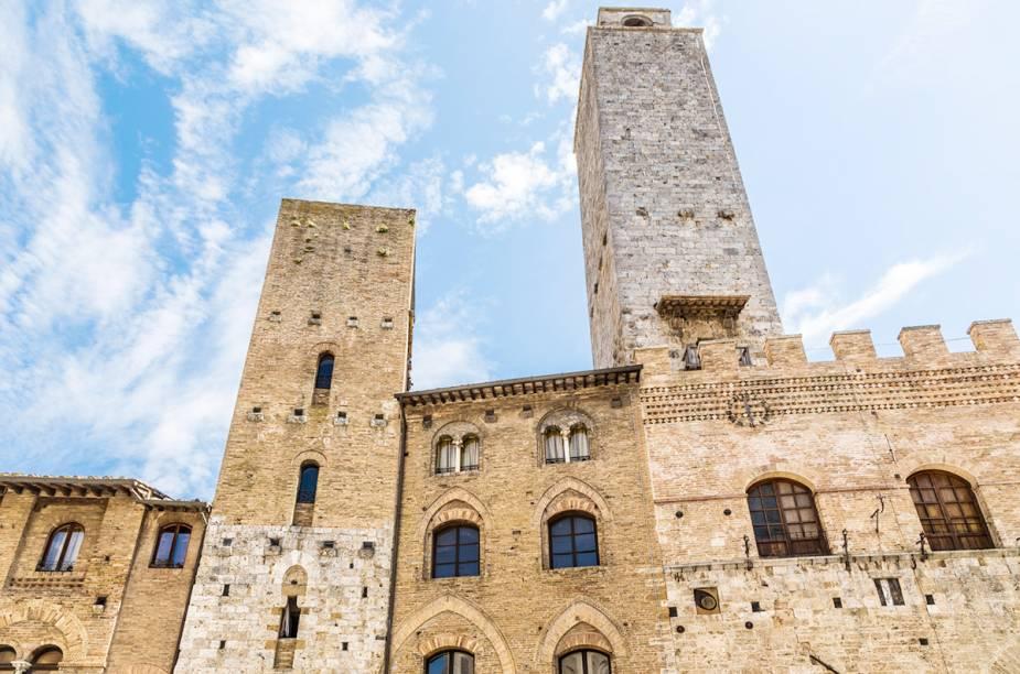 San Gimignano, Itália, é famosa pelas suas torres - que na época medieval, media o poder das famílias mais abastadas da região