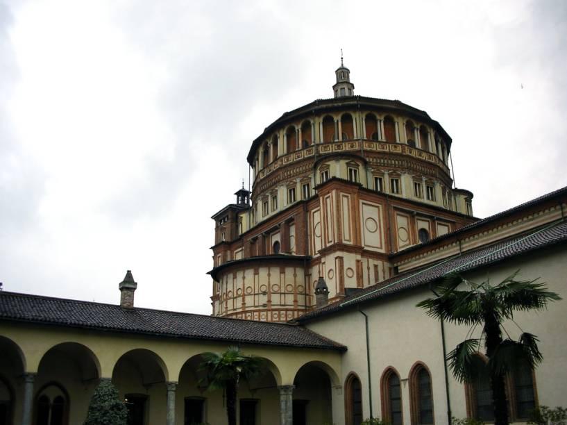 A grande atração da igreja de Santa Maria della Grazie é <em>A Última Ceia</em>, de Leonardo, que adorna uma das paredes de seu antigo refeitório