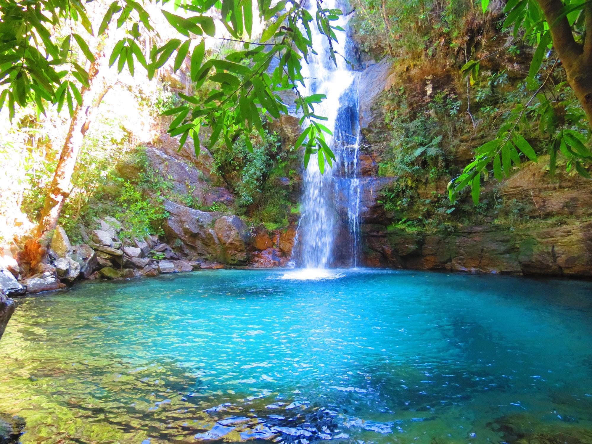Santuário da cachoeira da Santa Bárbara, Alto Paraíso de Goiás, Chapada dos Veadeiros (GO)