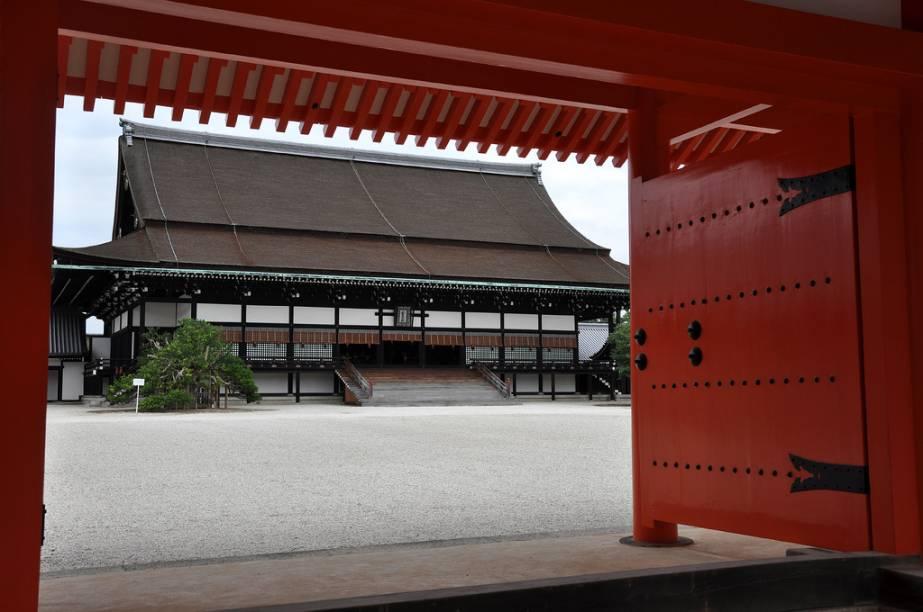 Hall Shishinden, onde eram realizadas as cerimônias de entronização dos imperadores do Japão