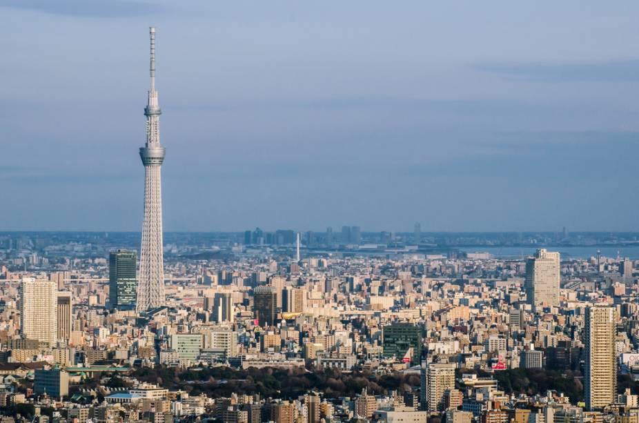 Tokyo Skytree, uma das mais altas construções do mundo, com 634 metros de altura
