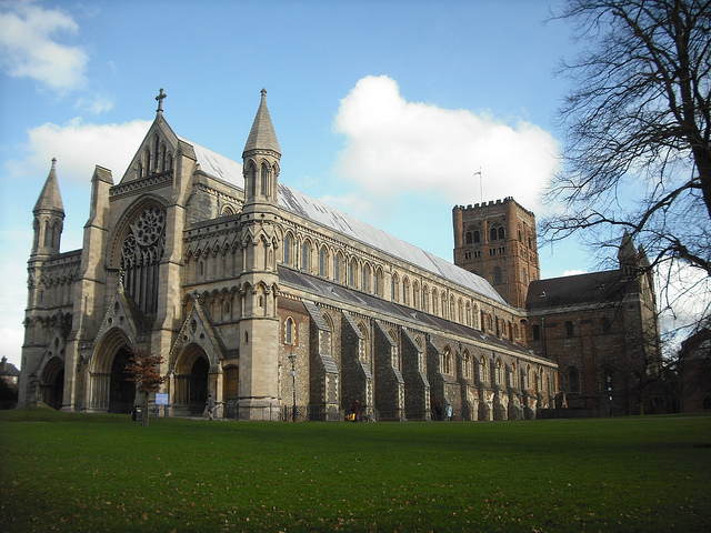 A catedral gótica de St. Albans (Klovovi/Flirck/creative commons)