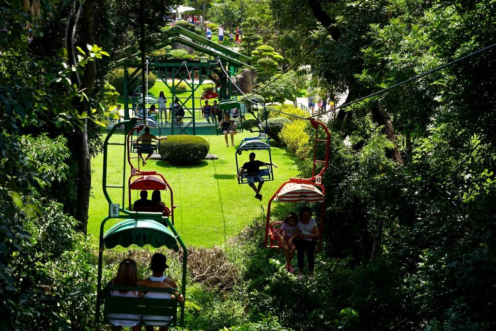 Teleférico do Parque Maeda, em Itu / Divulgação
