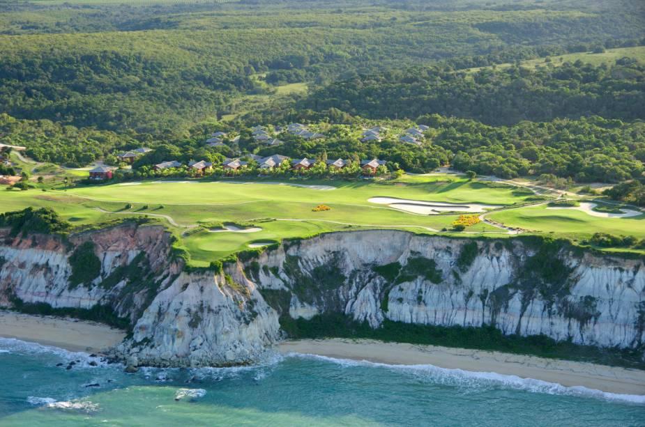 Vista aérea do Terravista Golf Resort, em Trancoso