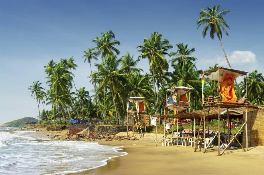 Praia em Goa, na Índia