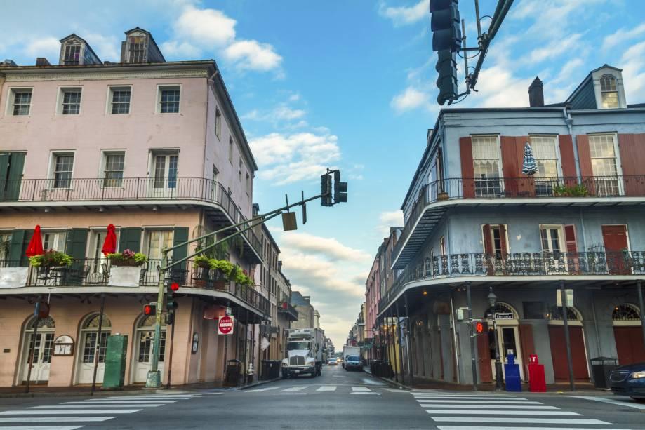 O bairro central de Nova Orleans é conhecido como French Quarter