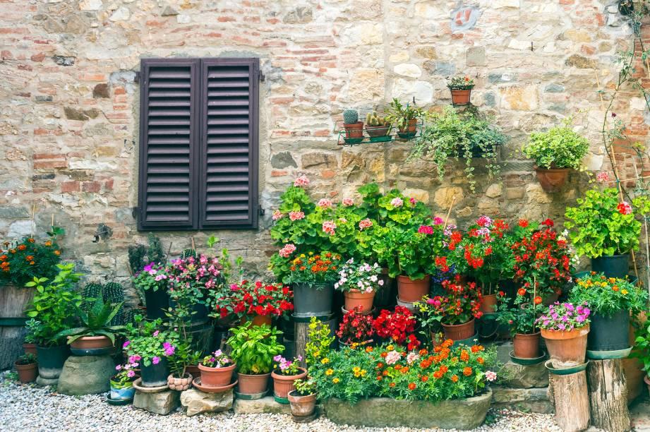 As fachadas de Chianti têm um charme típico
