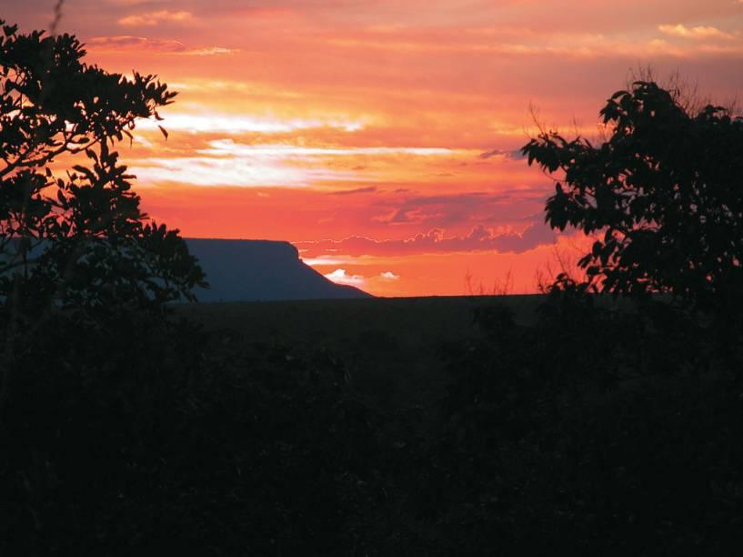 Pôr do sol no Parque Estadual do Jalapão em Tocantins