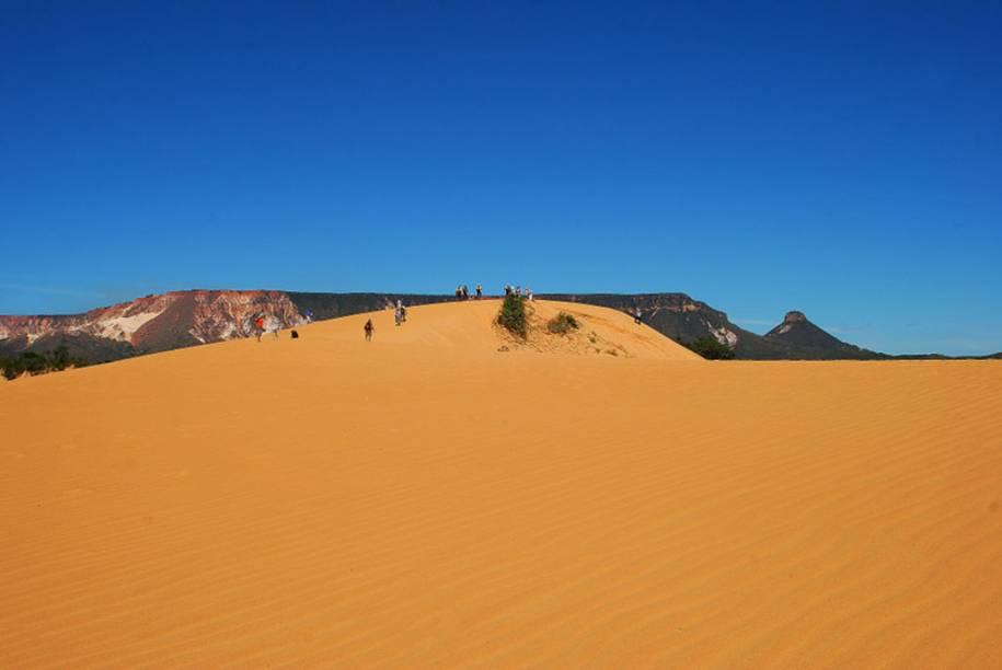 No Parque Estadual do Jalapão em Tocantins é possível fazer um passeio de 4x4 até as dunas