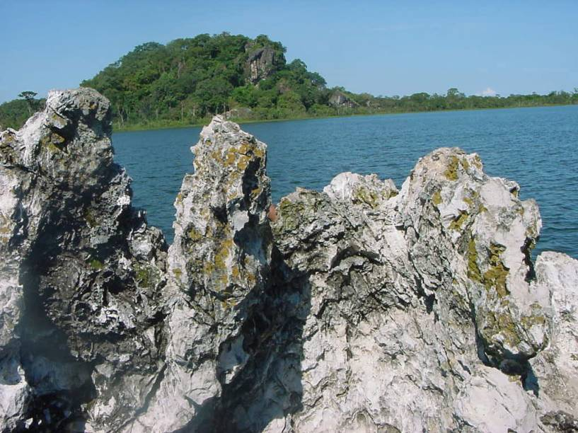 Pedra Encantada na Ilha do Bananal no Rio Araguaia, Tocantins
