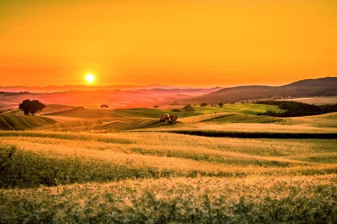 Toscana Itália Verão Por do sol