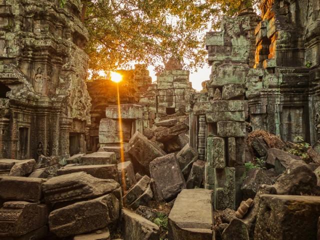 Um dos templos do complexo de Agnkor, no Camboja