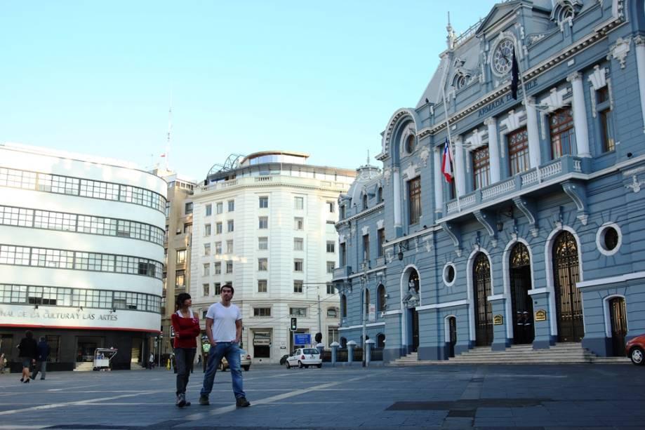 Sede da Marinha chilena, uma das atrações da cidade portuária de Valparaíso