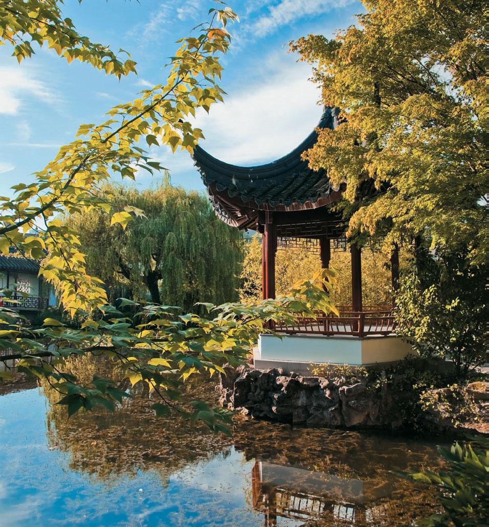 O jardim Dr. Sun Yat Sen, em Vancouver