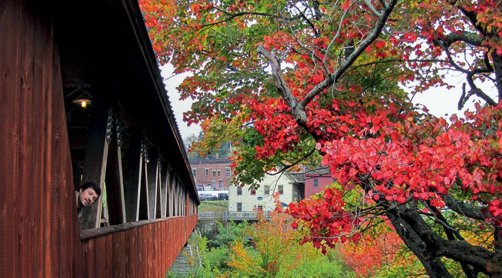 Folhagem de outono em Littleton, New Hampshire, Estados Uindos