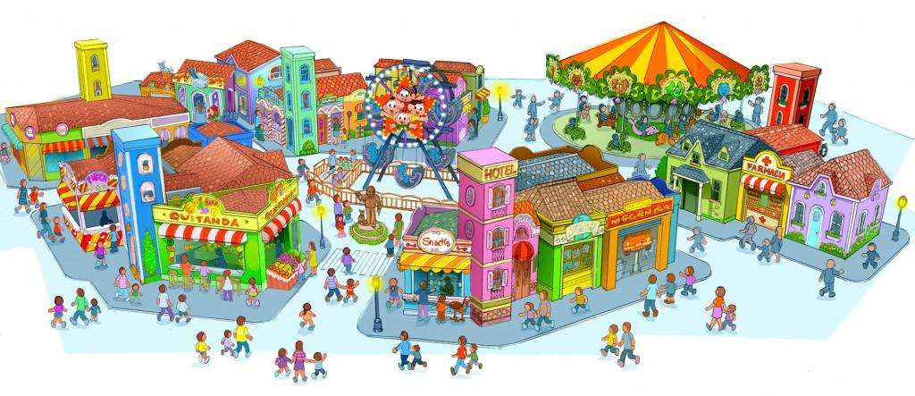 """""""Mapa"""" da Vila da Mônica (Imagem: divulgação Parque da Mônica)"""