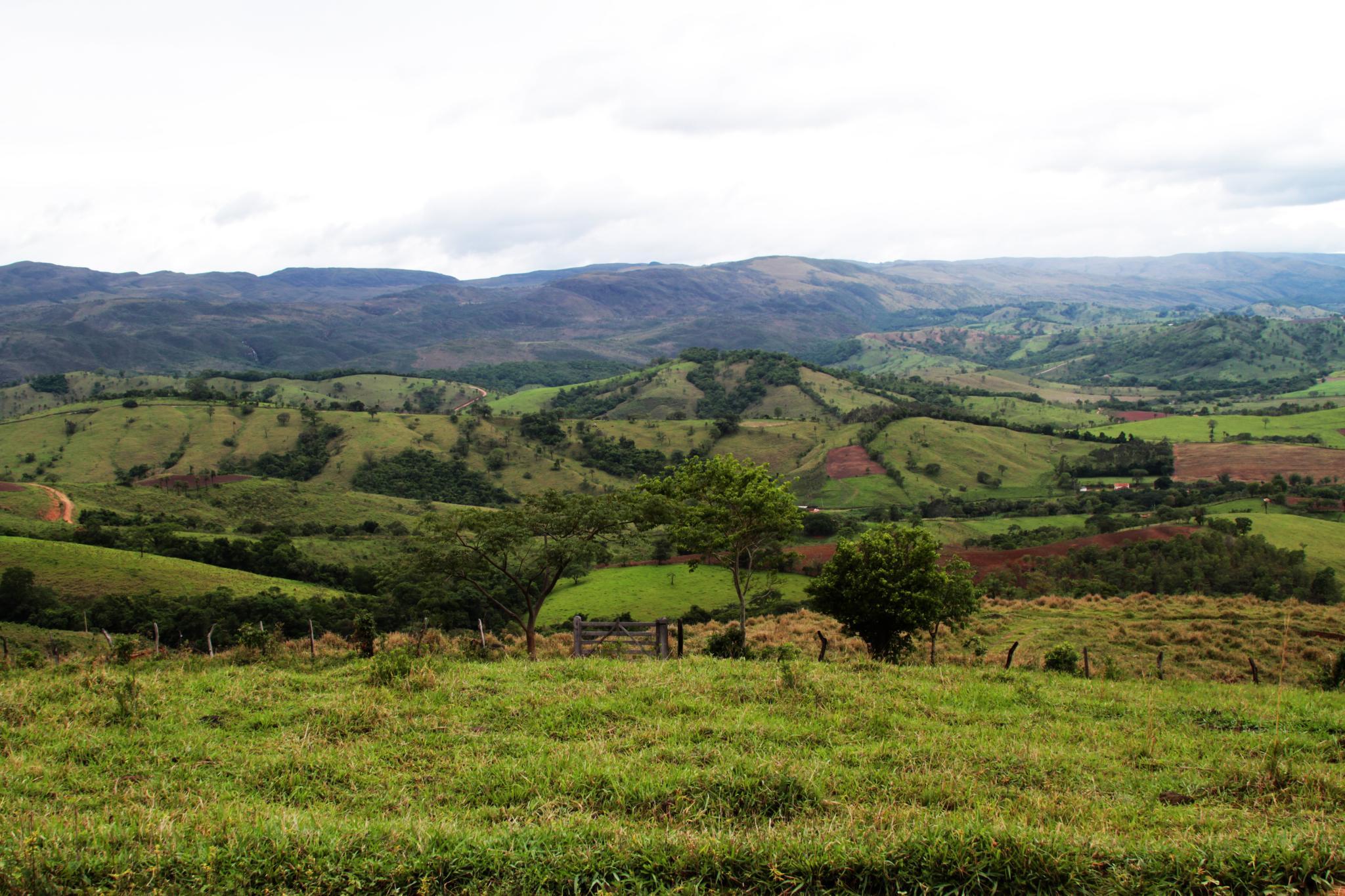 Vista da Serra da Canastra a partir de Definópolis, Minas Gerais
