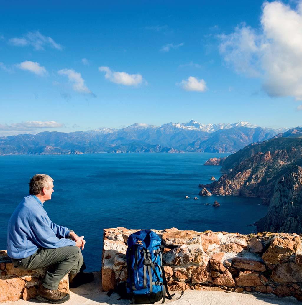 Vista do Monte Cinto, na Córsega