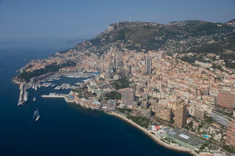 Vista geral de Mônaco