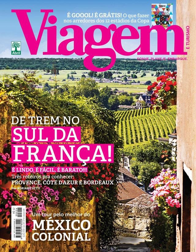 Capa da revista Viagem e Turismo de junho de 2014