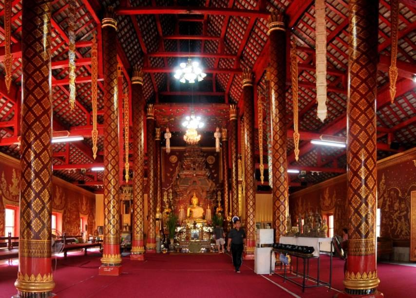 Templo budista Wat Chiang Mun, em Chiang Mai, norte da Tailândia