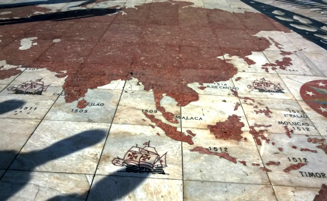 Mapa dos descobrimentos (foto: Renata Hirota)