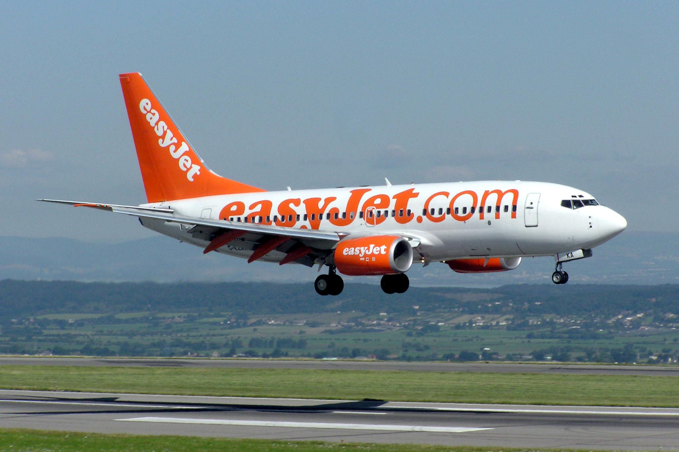 Avião da companhia aérea EasyJet