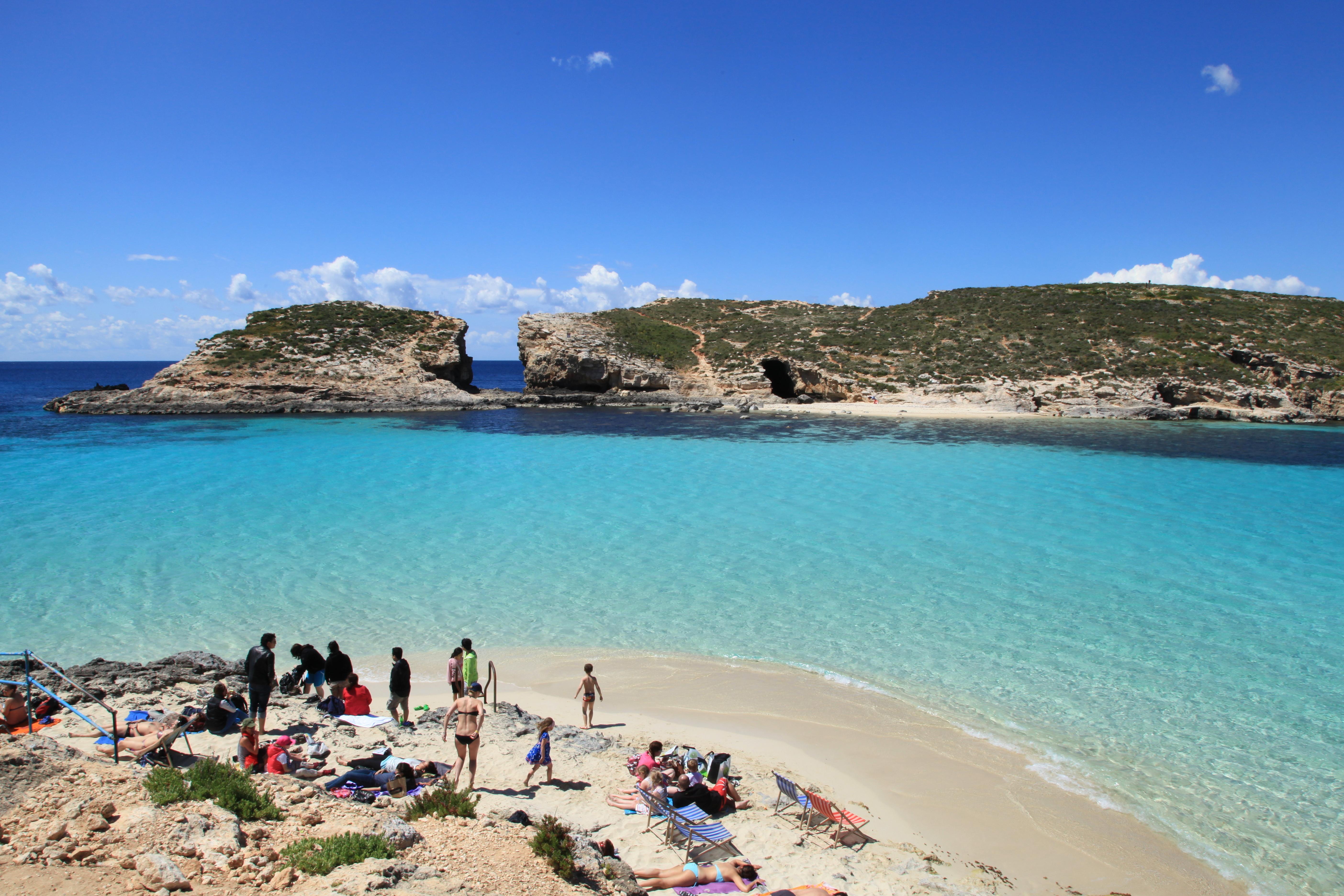 Blue Lagoon em Għajnsielem, ilha de Malta