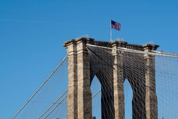 Ponte do Brooklyn em Nova York