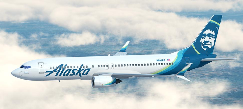 O voo era operado pela Alaska Airlines