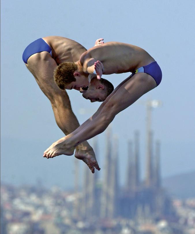 Campeonato de saltos em Barcelona: as piscinas dos Jogos Olímpicos de 1992 ainda recebem campeonatos internacionais
