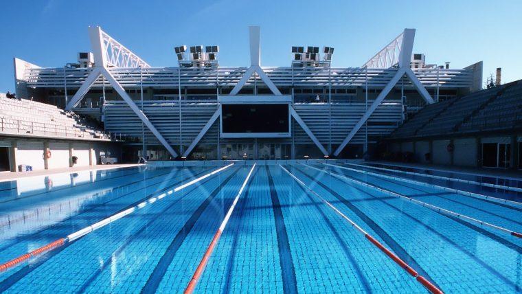 Bernat Picornell, uma das piscinas olímpicas de Barcelona, aberta ao público e frequentada por milhares de pessoas