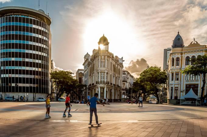 Recife Antigo praça do Marco Zero Pernambuco