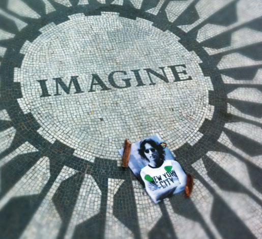 Mosaico no Central Park em homenagem ao beatle John Lennon