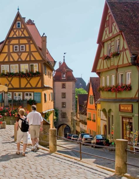Casas que parecem de mentirinha em Rothenbug ob der Tauber, bibelô das 28 cidades da Rota