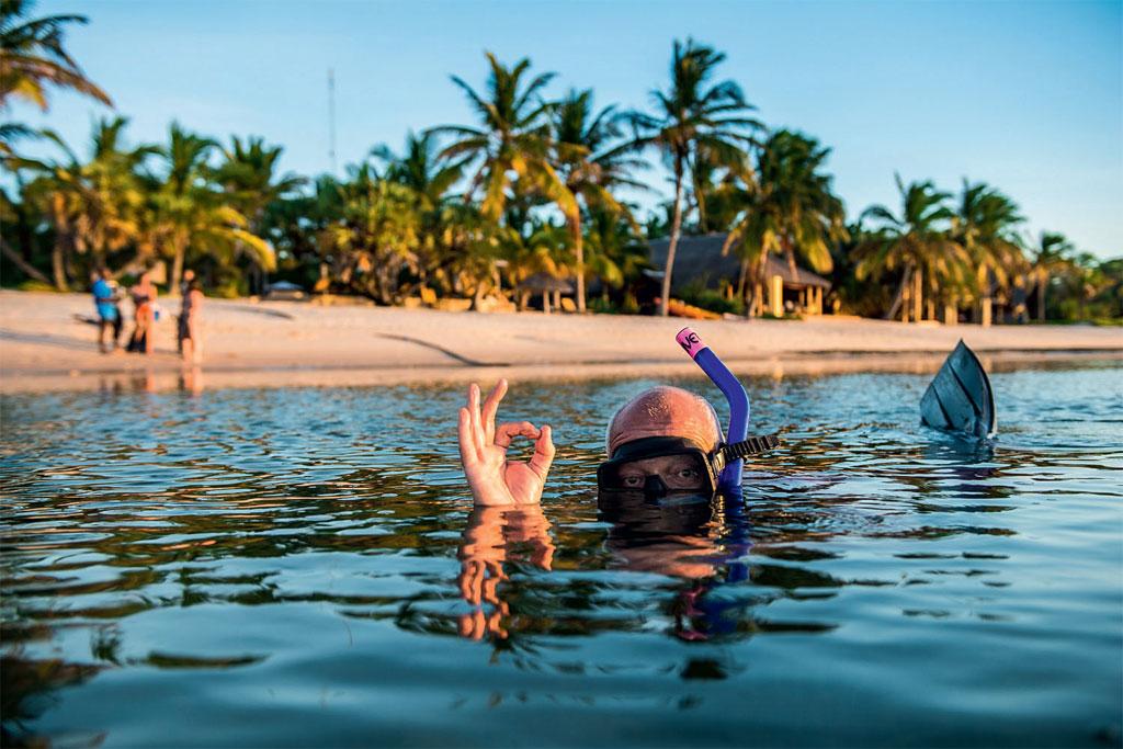 Snorkel em Bazaruto, em Moçambique
