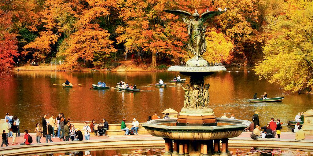 Um dos lagos do Central Park, em Nova York