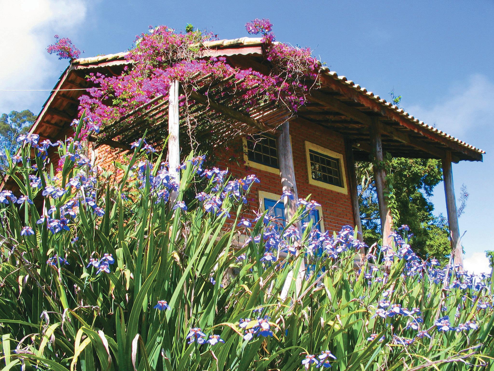 Bangalô do Hotel Pousada do Muxarabi. em Extrema, Minas Gerais