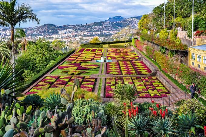 Jardim Botânico em Funchal, Ilha da Madeira, Portugal
