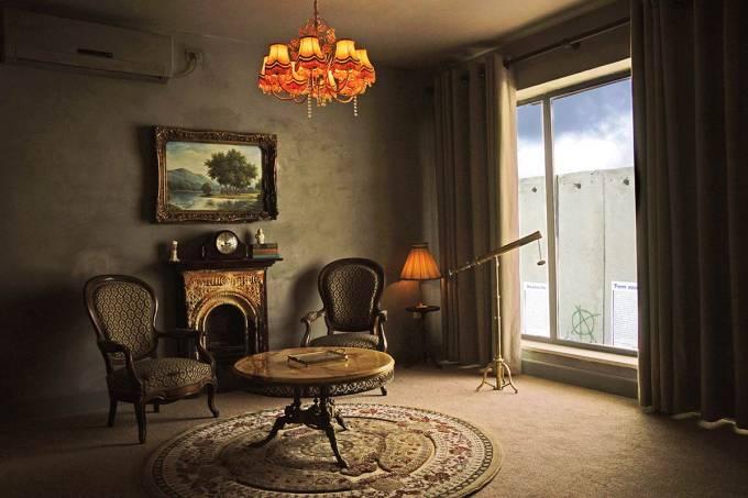 quarto de hotel banksy the walled off palestina