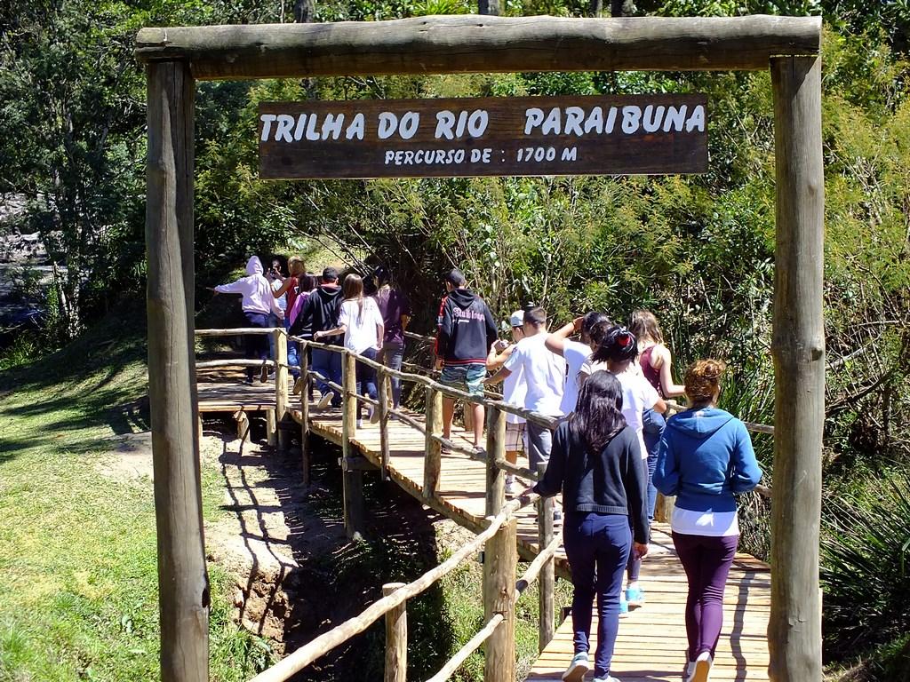 Trilha do Rio Paraibuna em Cunha, interior de São Paulo