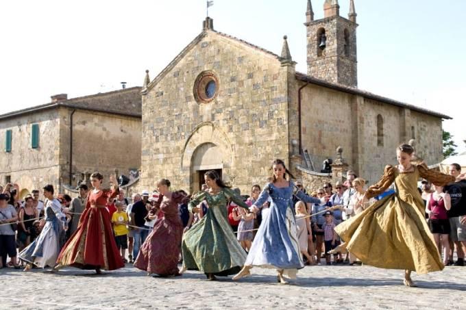 Festa Medieval de Monteriggioni, Siena, Toscana, Itália