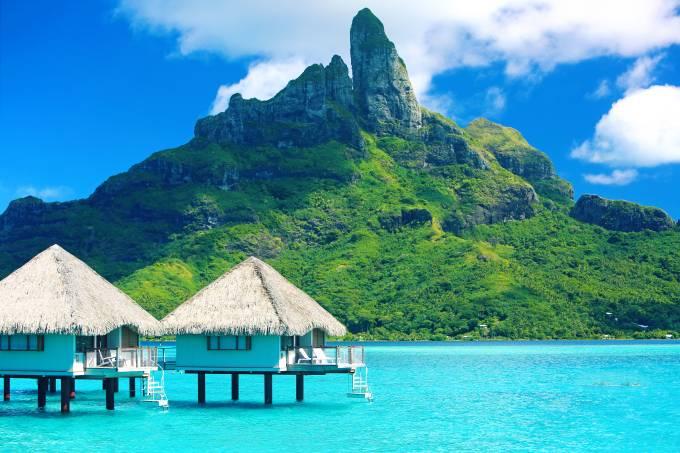 Monte Otemanu, em Bora Bora, Tahiti