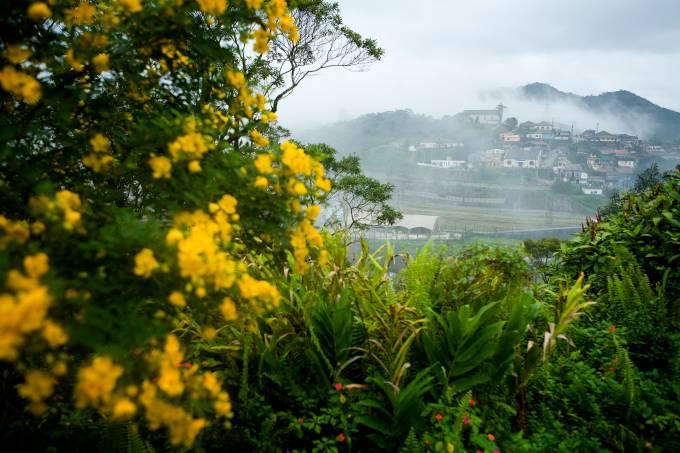 Vista da cidade de Paranapiacaba, na Serra do Mar, interior de São Paulo. Foto de 2008