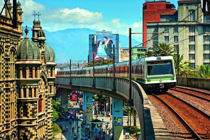 Colômbia, Medellín, metrô